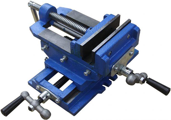 HFS (Tm) 5 inch Cross Slide Vise Drill Press Metal Milling 2 Way X-Y Heavy Duty Clamp Machine
