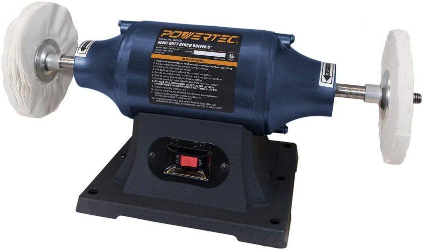 POWERTEC BF600 Heavy Duty Bench Buffer