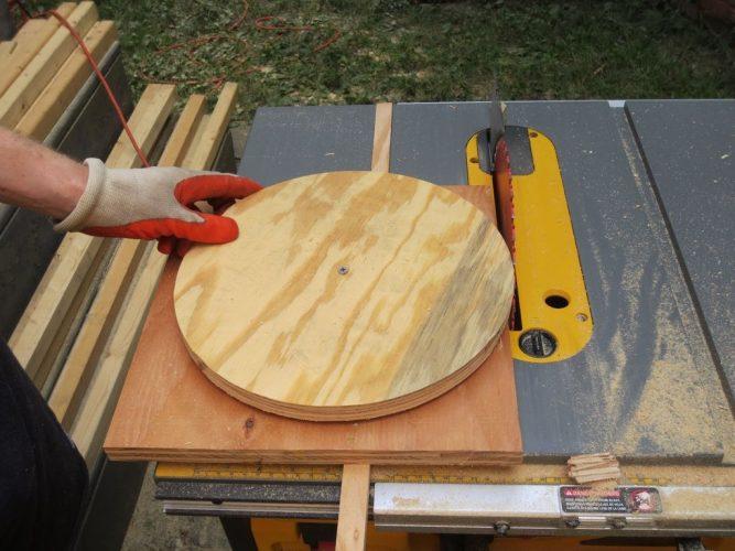 circle cut using a table saw