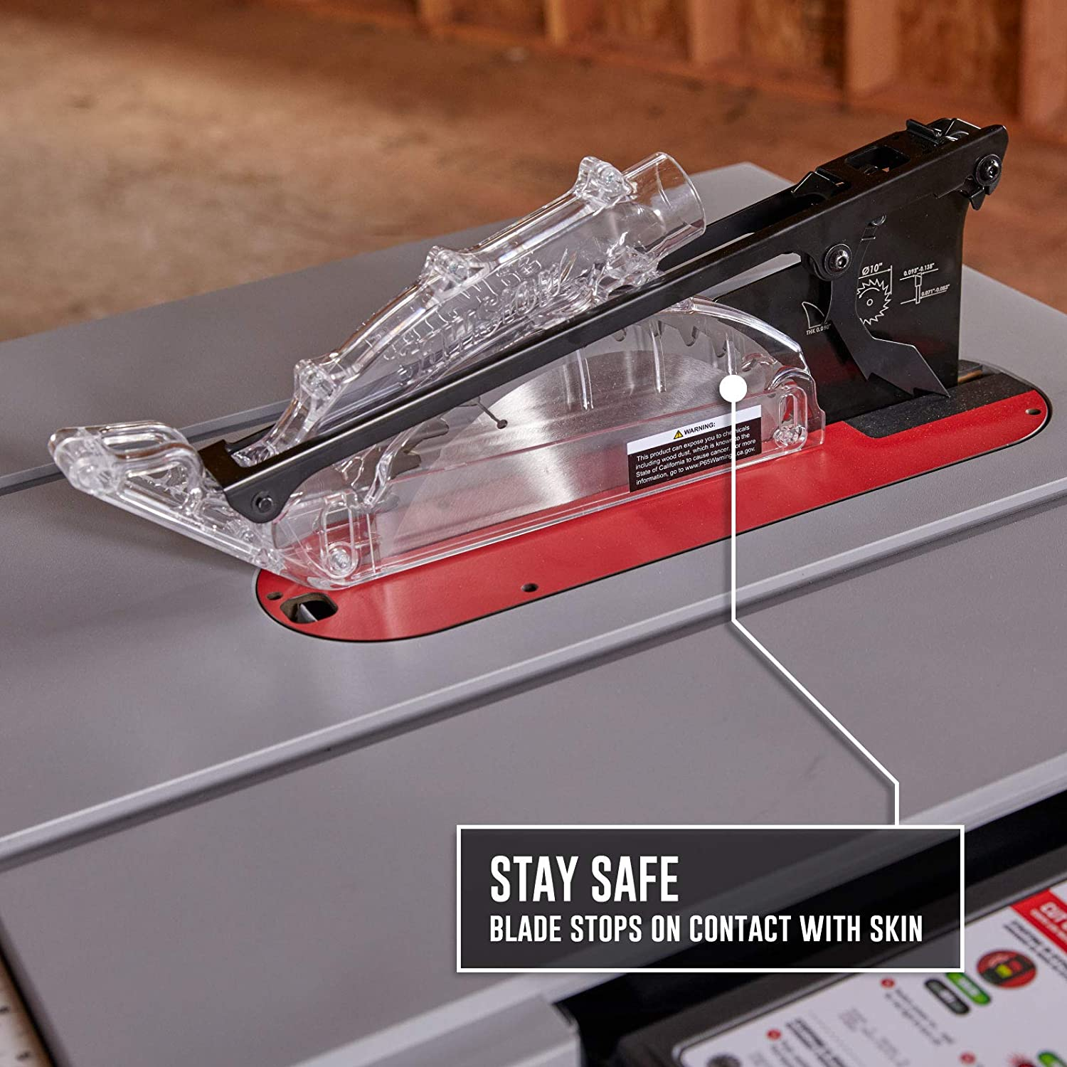 sawstop saw pro with safety cover