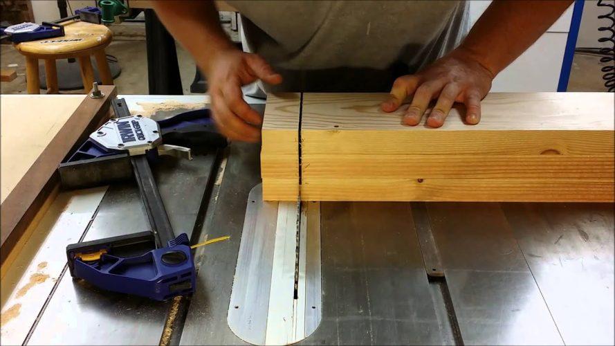 table saw cutting